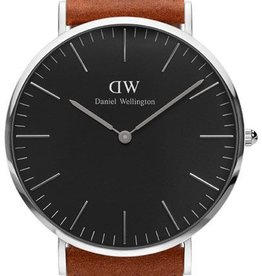 Daniel Wellington Inc DW Classic Black Durham Man Watch Silver 40mm