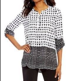 Tunic Border Print Neck