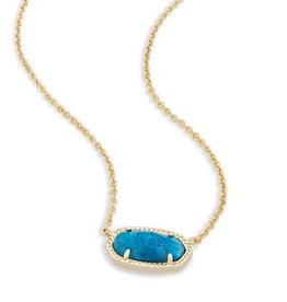 Kendra Scott Elisa Necklace Aqua Apatite Brss - Kendra Scott