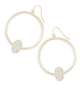 Kendra Scott Elora Earring Iridescent Drusy Gold- Kendra Scott