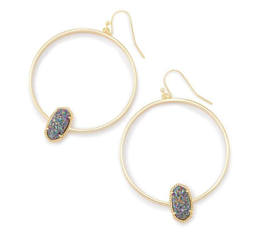 Kendra Scott Elora Earring Multi Drusy Gold - Kendra Scott
