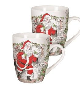 Fitz and Floyd Vintage Holiday Mugs Set