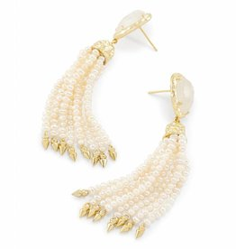 Kendra Scott Blossom Earring Gold Crystal Ivory Illusion