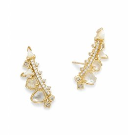 Kendra Scott Clarissa Earring Gold Ivory Color Mix
