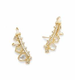 Kendra Scott Clarissa Earring Gold Ivory Color Mix