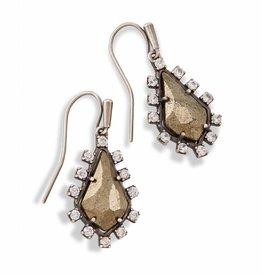 Kendra Scott Juniper Earring Pyrite, Ant. Silver