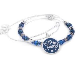 Alex and Ani Peace Set of 2,Navy, SS