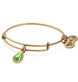 Alex and Ani Swarovski Teardrop Color Code EWB August, Peridot Gold