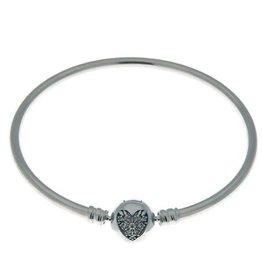 Pandora Jewelry Bangle Heart of Winter RETIRED