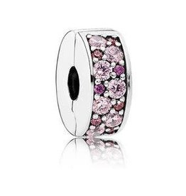 Pandora Jewelry Clip Mosaic Shining Elegance Pnk Purp CZ