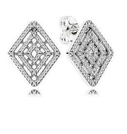 Pandora Jewelry Earring Geometric Lines, Clr Cz