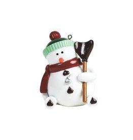 Fitz and Floyd Kisses Snowman Ornament