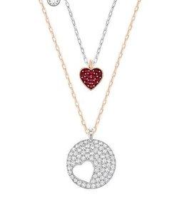 Swarovski Crystal Wishes Heart Pendant Set