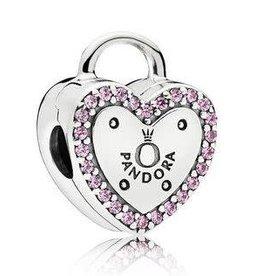 Pandora Jewelry Clip Lock Your Promise Pnk CZ