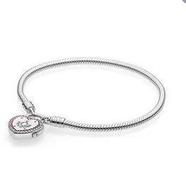 Pandora Jewelry Bracelet Lock Your Promise Pink CZ