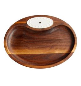 Nora Fleming, LLC Walnut Tidbit Dish