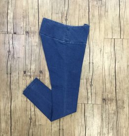 Pull On Solid French Terry Legging