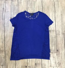 Short Sleeve Top w/ Lace Trim
