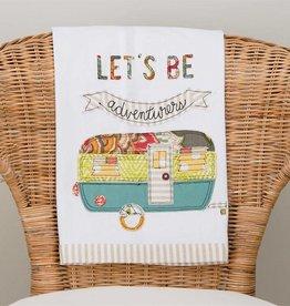 Let's Be Adventurers Camper Tea Towel