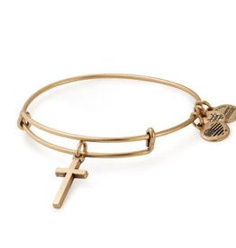 Alex and Ani Cross Bangle II EWB, RG