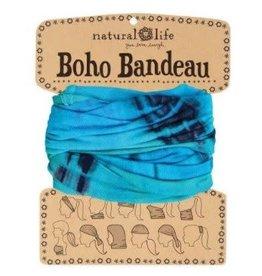 Natural Life Boho Bandeau Turquoise & Blue Tie Dye