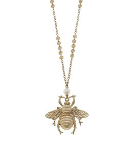Canvas Queen Bee Linked Disc Necklace