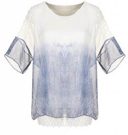 Good Bead Inc Riviera Dip Dye Lace Shoulder Top