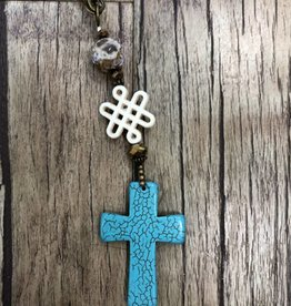 Scooples Jewelry Turquoise Natural Cross Necklace