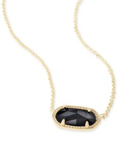 Kendra Scott Elisa Necklace Blk Opq Gls