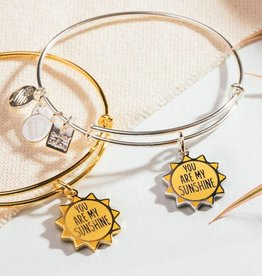 Alex and Ani You Are My Sunshine Gold Finish