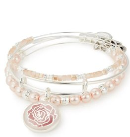 Alex and Ani Rose Set of 3 Silver