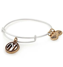 Alex and Ani Initial N II EWB, Two Tone, RS