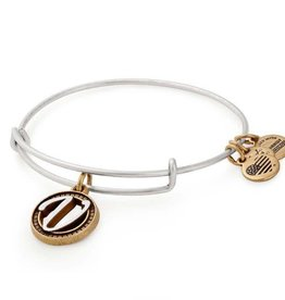 Alex and Ani Initial V II EWB, Two Tone, RS