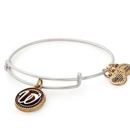 Alex and Ani Initial W II EWB, Two Tone, RS