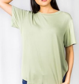 Before You Collection Sslv Bamboo Fabric Basic Top