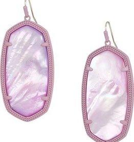 Kendra Scott Danielle Earring Matte Lilac Lilac MOP