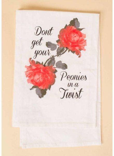 Peonies Hang Tight Towel