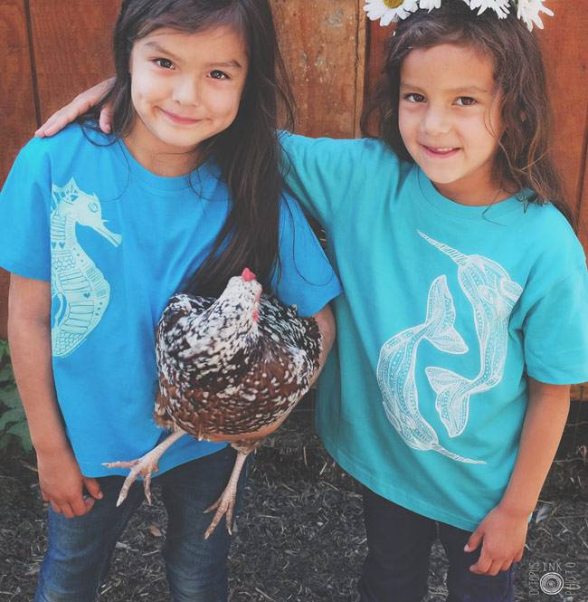 Seahorse Love- Kids, Tee