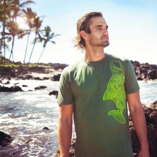 Salmon (Fern)- Men's Tee