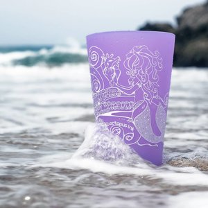 Mermaid & Octopus- Pint Purple