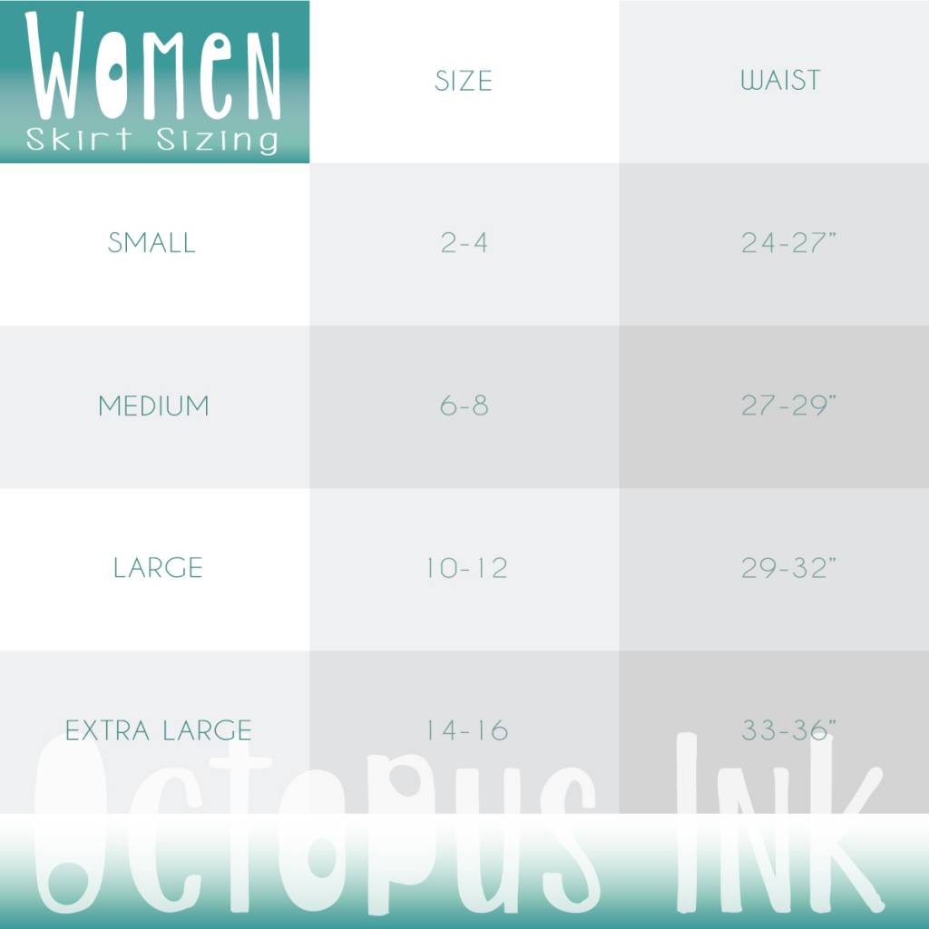 Tentacle (Turquoise)- Skirt, Long