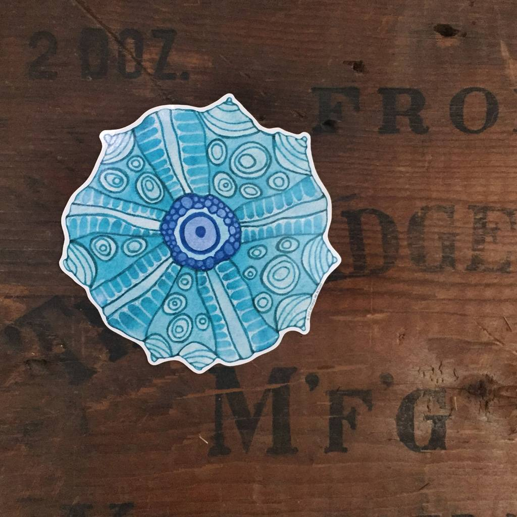 Urchin- Decal Turquoise