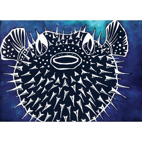 Pufferfish- 5 x 7 Giclee