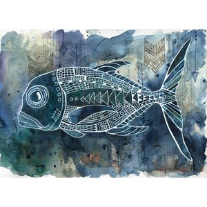 Jackfish- 5 x 7 Giclee
