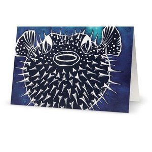 Pufferfish- Note Card