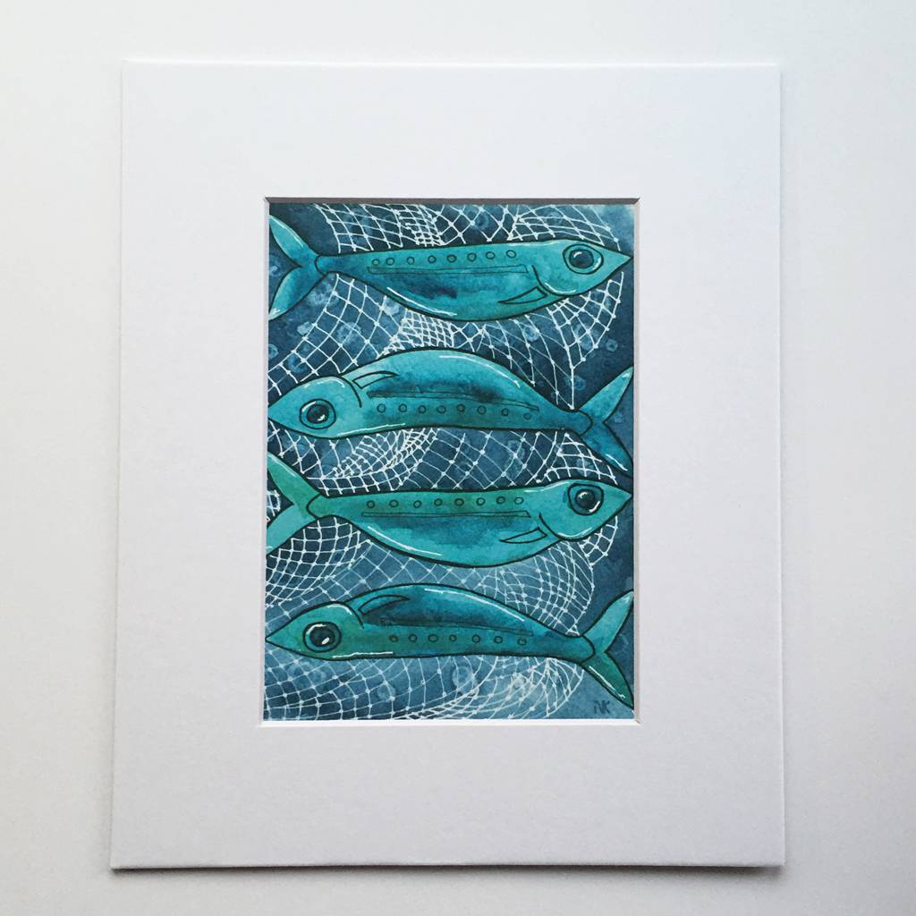 Sardines- 5 x 7 Giclee