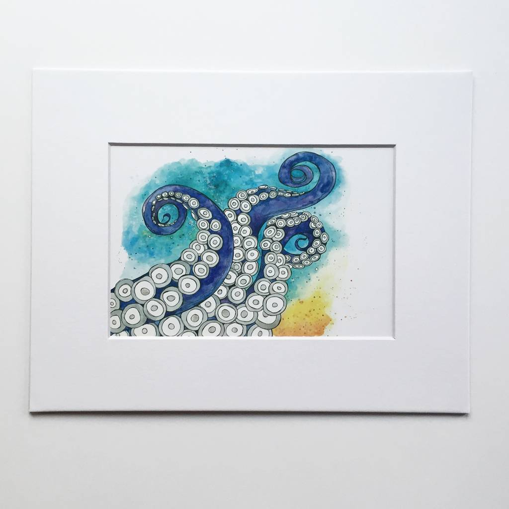 Tentacles- 8 x 10 Giclee