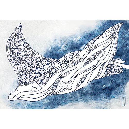 Spotted Eagle Ray- 8 x 10 Giclee