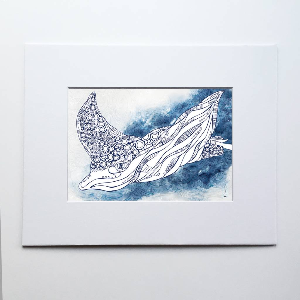 Spotted Eagle Ray- 5 x 7 Giclee