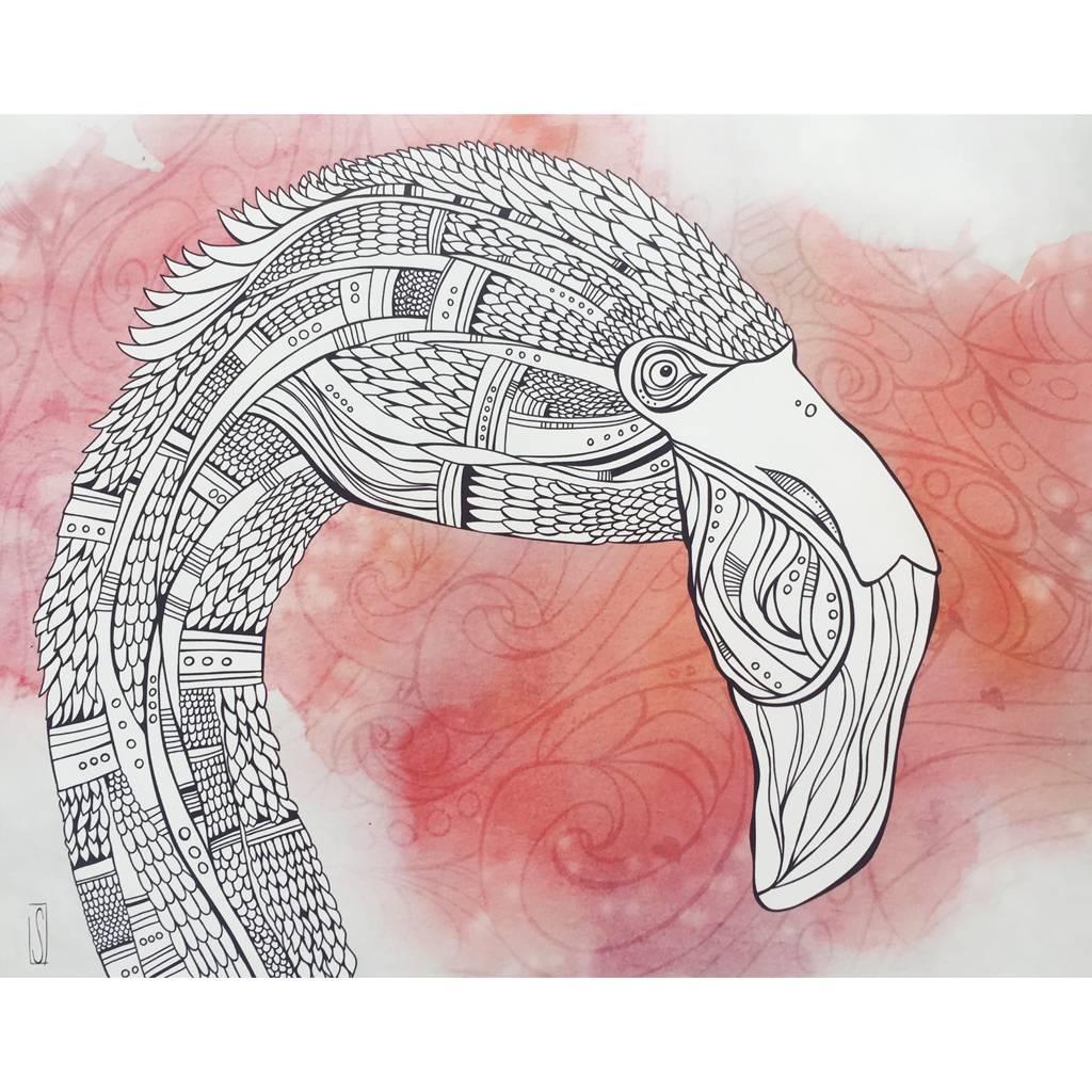 Flamingo- 8 x 10 Giclee